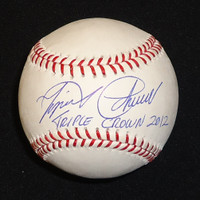 "Miguel Cabrera Autographed Baseball - ""Triple Crown 2012"" Inscription (Pre-Order)"