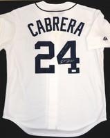 """Miguel Cabrera Autographed Detroit Tigers Jersey - Home Replica Inscribed """"Triple Crown 2012"""" (Pre-Order)"""