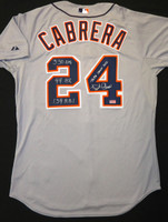 Miguel Cabrera Autographed Detroit Tigers Jersey - Road Authentic inscribed with Triple Crown Stats (Pre-Order)