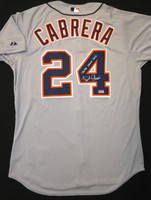 "Miguel Cabrera Autographed Detroit Tigers Jersey - Road Authentic inscribed ""Triple Crown 2012"" (Pre-Order)"