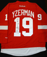 Steve Yzerman Autographed Detroit Red Wings Red Jersey - HOF 09 Inscription (Pre-Order)