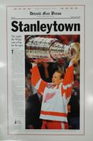 "Steve Yzerman Autographed 16x24 Free Press Poster - 1997 ""Stanleytown"" (Pre-Order)"