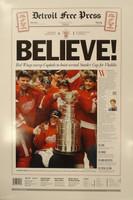"Steve Yzerman Autographed 16x24 Free Press Poster - 1998 ""Believe"" (Pre-Order)"