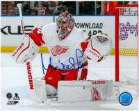 Petr Mrazek Autographed 8x10 Photo #5 - Ready for the shot