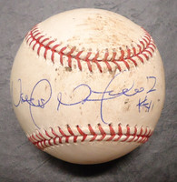 Victor Martinez Autographed 2013 Game Used Baseball - Foul Tip