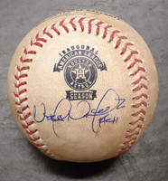 Victor Martinez Autographed Game Used Baseball