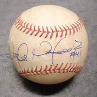 Victor Martinez Autographed 2013 Game Used Baseball - Opening Day Pitch in Dirt