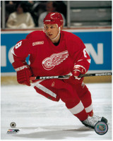 Igor Larionov Autographed Detroit Red Wings 8x10 Photo #1 - Red (Pre-Order)