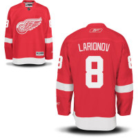 Igor Larionov Autographed Detroit Red Wings Jersey (Red) Inscribed HOF 08 (Pre-Order)