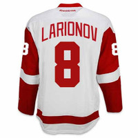 Igor Larionov Autographed Detroit Red Wings Jersey (White) Inscribed HOF 08 (Pre-Order)