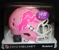 Detroit Lions Riddell Pink Mini Speed Helmet