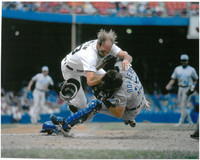 Kirk Gibson Autographed 8x10 Photo #4 - Collision at Home (Pre-Order)