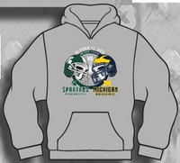 Michigan vs. Michigan State Rivalry Game Hooded Sweatshirt