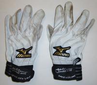 James McCann Autographed 2015 Game Used Batting Gloves - White/Black