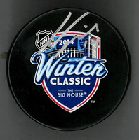 Gustav Nyquist Autographed 2014 Winter Classic Souvenir Puck