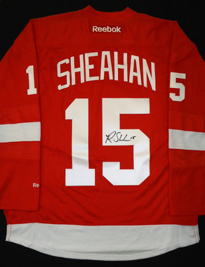 Riley Sheahan Autographed Detroit Red Wings Jersey