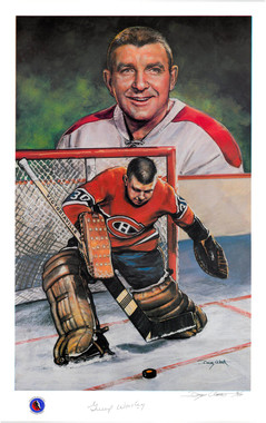 Gump Worsley Autographed Lithograph