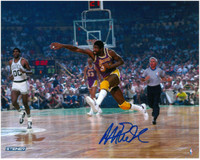 Magic Johnson Autographed 8x10 Photo #3 - Lakers Passing (Pre-Order)