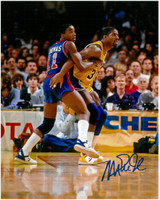 Magic Johnson Autographed 8x10 Photo #4 - vs. Isiah Thomas (Pre-Order)