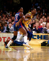 Magic Johnson Autographed 16x20 Photo #4 - vs. Isiah Thomas (Pre-Order)