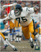 Joe Greene Autographed Pittsburgh Steelers 8x10 Photo #1
