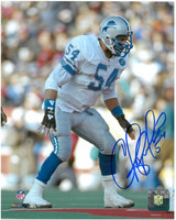 Chris Spielman Autographed Detroit Lions 8x10 Photo #2