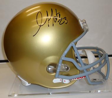 Golden Tate Autographed Notre Dame Helmet