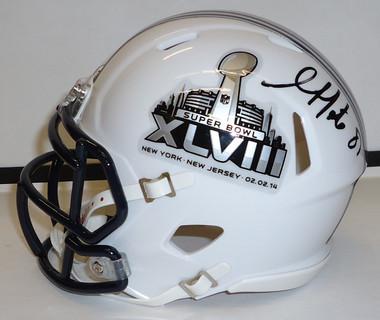 Golden Tate Autographed Super Bowl Helmet