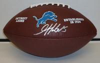Golden Tate Autographed Detroit Lions Logo Football