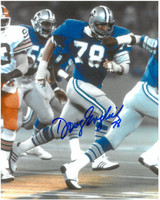 Doug English Autographed Detroit Lions 8x10 Photo #1