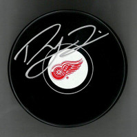 Dylan Larkin Autographed Detroit Red Wings Puck