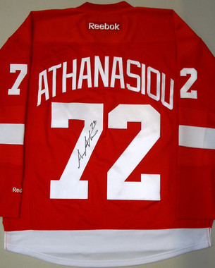 Andreas Athanasiou Autographed Detroit Red Wings Jersey