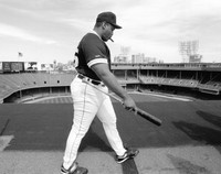 Cecil Fielder Autographed 16x20 Photo #1 - Tiger Stadium Roof (Pre-Order)