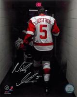 "Nicklas Lidstrom Autographed Detroit Red Wings 8x10 Photo - Walking Off the Ice Inscribed ""HOF 15"" (pre-order)"