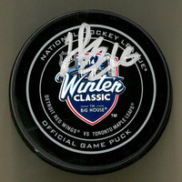 Henrik Zetterberg Autographed 2014 Winter Classic Official Game Puck