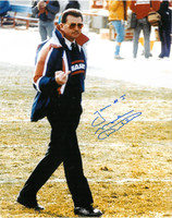 Mike Ditka Autographed Flipping the Bird Photo