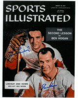Gordie Howe and Ted Lindsay Autographed Sports Illustrated 8x10 Photo