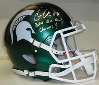 Connor Cook Autographed MSU Spartans Speed Satin Authentic Helmet