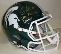 Connor Cook Autographed MSU Spartans Speed Replica Helmet