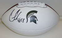 Connor Cook Autographed MSU Spartans Nike Logo Football