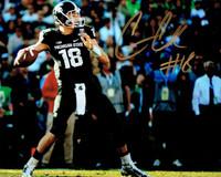 Connor Cook Autographed MSU Spartans 8x10 Photo #1 - Rose Bowl