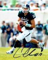 Connor Cook Autographed MSU Spartans 8x10 Photo #2 - Rolling Out