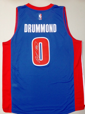 Andre Drummond Autographed Jersey