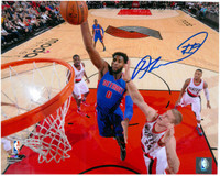 Andre Drummond Autographed Detroit Pistons 8x10 Photo #3 - Dunk vs. Blazers