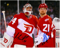 Petr Mrazek & Tomas Tatar Autographed Detroit Red Wings 8x10 Photo - Stadium Series