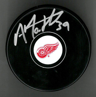 Anthony Mantha Autographed Detroit Red Wings Puck