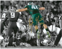 "Kyler Elsworth Autographed Michigan State Spartans 8x10 Photo #1 - ""The Stop"" Spotlight"