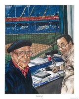Ernie Harwell & Paul Carey Autographed Lithograph