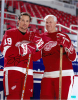 Gordie Howe & Steve Yzerman Autographed Photo