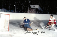 Gordie Howe & Johnny Bower Autographed Photo